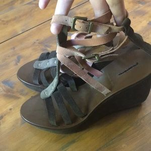 J.Crew suede leather wedge! Size 9